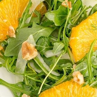 Salad cam hạt hồ đào