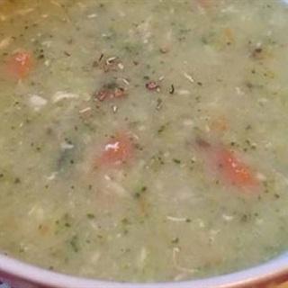 Cách nấu súp kem thịt gà rau củ