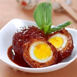 Cách làm Thịt bọc trứng sốt kiểu Trung Hoa