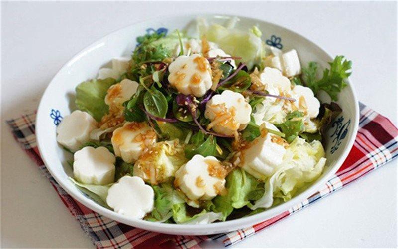 Kết quả hình ảnh cho salad đậu hũ non