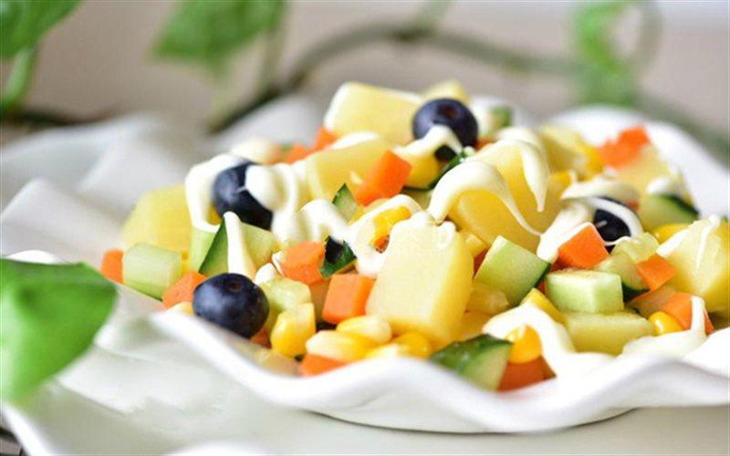 Cách Làm Salad Rau Củ Trộn Sốt Thanh Mát Hấp Dẫn