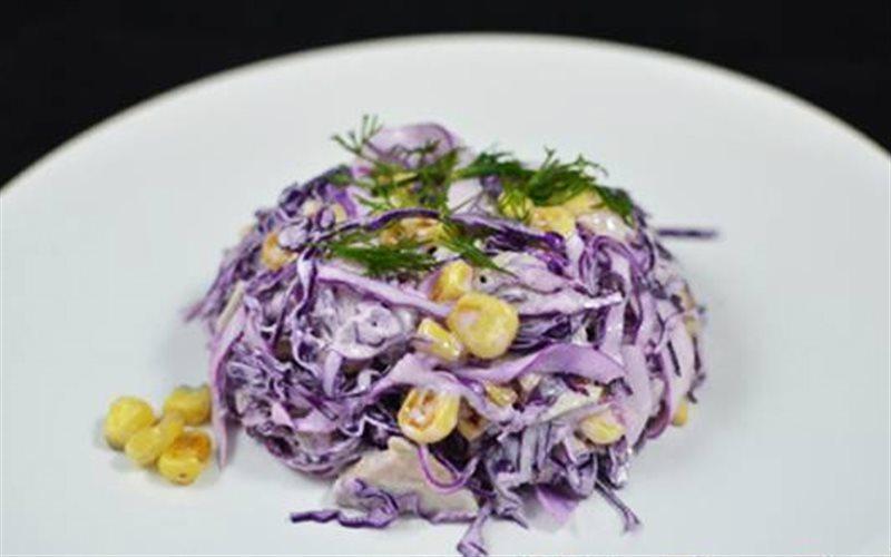 Cách Làm Salad Bắp Cải Tím Trộn Bắp Cực Ngon Lành