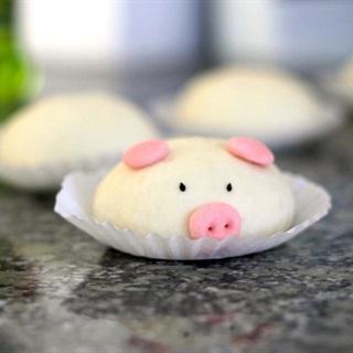 Cách Làm Bánh Bao Heo Hồng, Siêu Dễ Thương Cho Bé