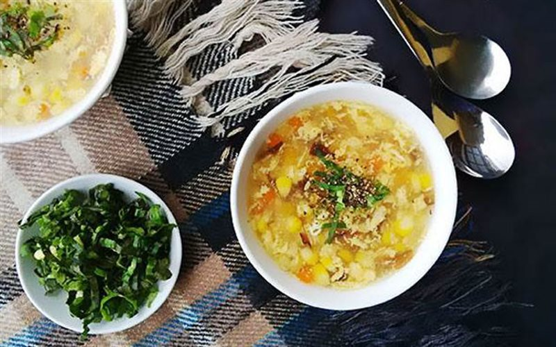Cách Làm Soup Trứng Nấu Bắp Đơn Giản, Ấm Bụng
