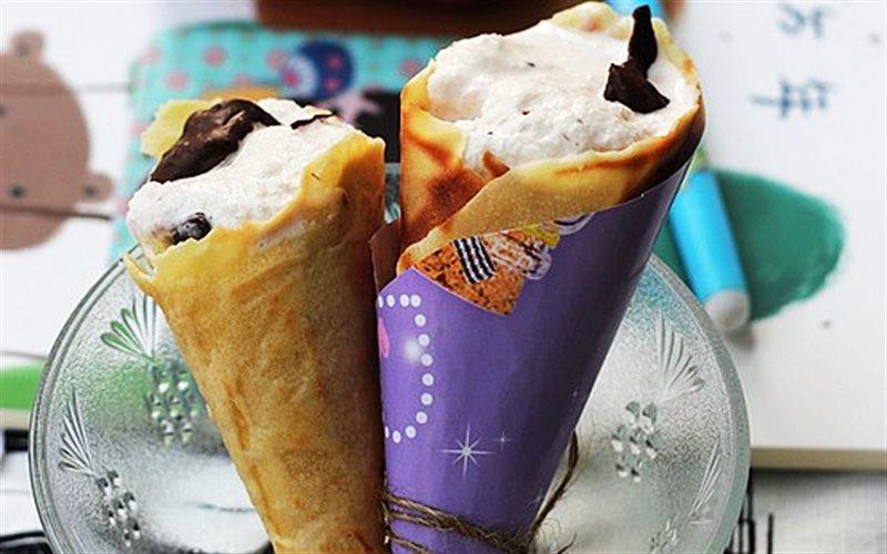 Cách làm Kem Ốc Quế mát lạnh béo ngậy với lớp bánh giòn tan