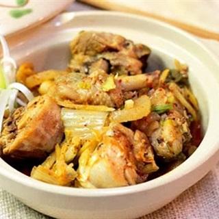 Cách làm thịt gà kho kim chi