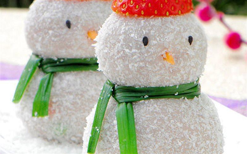 Cách Làm Bánh Hình Người Tuyết Cho Ngày Giánh Sinh