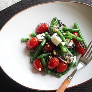 Salad đậu que cà chua bi