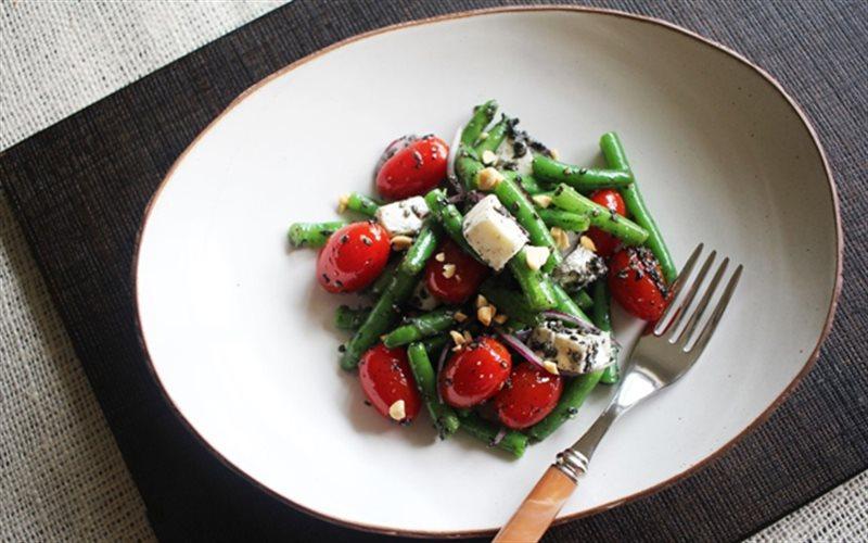 Cách làm Salad Đậu Que Cà Chua Bi vừa đẹp lại vừa ngon
