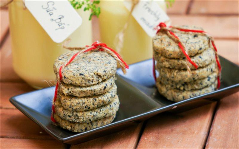 Cách Làm Bánh Quy Mè Đen Nướng, Để Dành Ăn Vặt