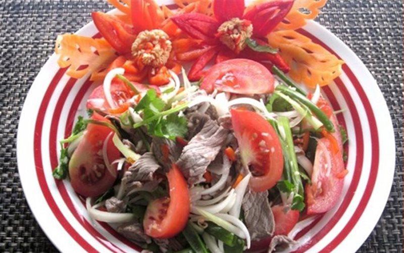 Cách làm Salad Thịt Bò rau quả tươi chua ngọt hấp dẫn