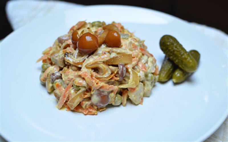 Cách Làm Salad Gà Nấm Đơn Giản, Khai Vị Cực Ngon