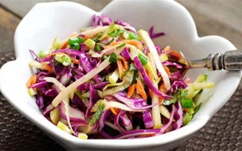 Cách Làm Salad Táo Và Bắp Cải Tím Giảm Cân Tại Nhà