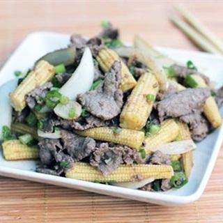 Cách làm thịt bò xào bắp non