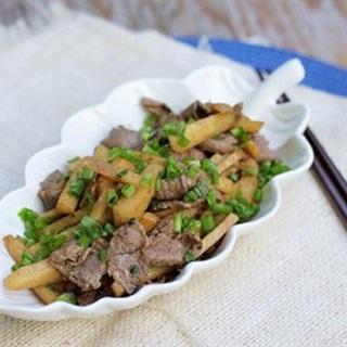 Cách Làm Thịt Bò Xào Củ Sắn Ngon Miệng Cho Cả Nhà