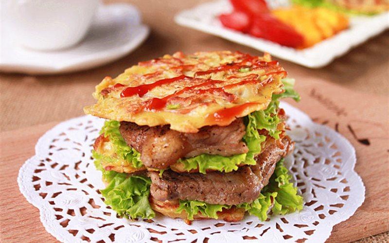 Cách làm Burger bò không cần lò nướng