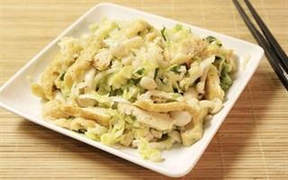 Bắp cải xào đậu hũ và nấm