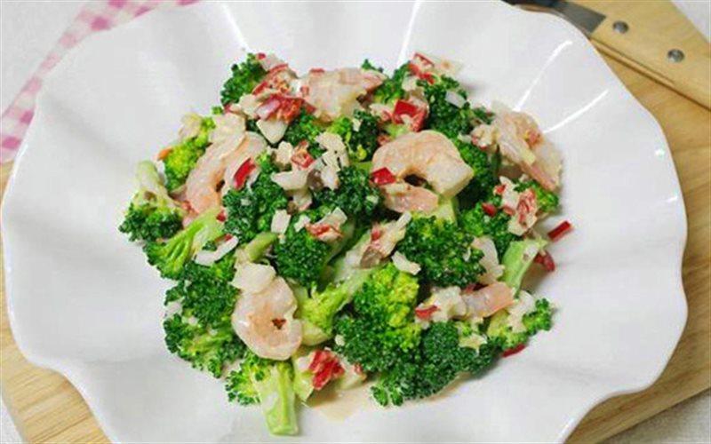 Cách Làm Salad Bông Cải Trộn Tôm Sốt Mayonnaise