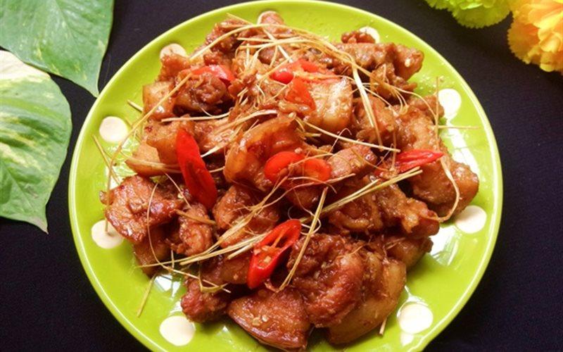 Cách làm Thịt Ba Rọi Chiên Sả Sớt cay nồng, ngon hết ý