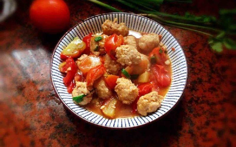 Cách làm thịt viên sốt cà chua tuyệt ngon