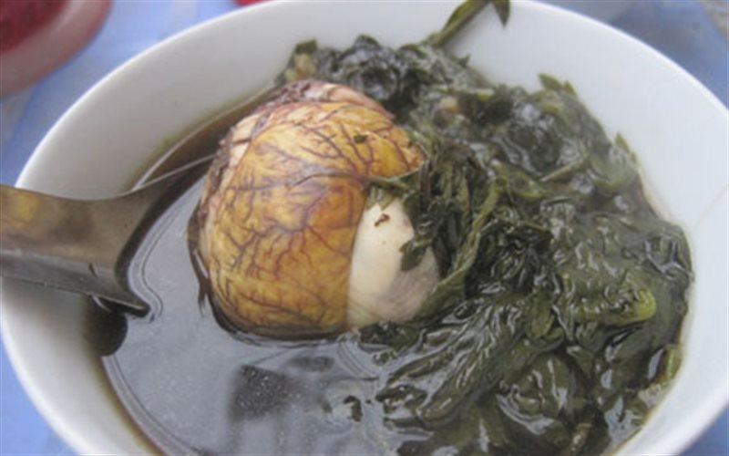 Cách làm Trứng Vịt Lộn Hầm Ngải Cứu bổ dưỡng cho sức khỏe