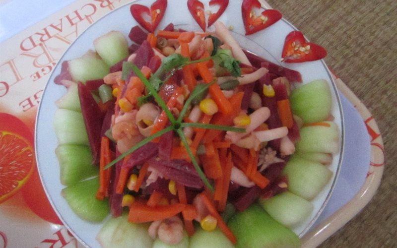 Cách làm rau củ xào hải sản