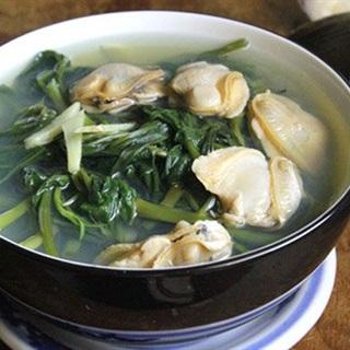 Cách làm canh rau muống nấu nghêu
