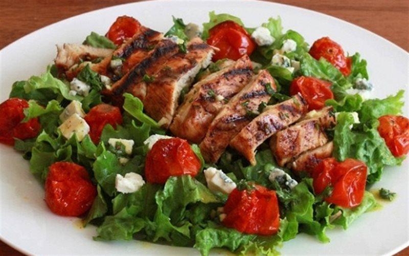 Cách Làm Salad Gà Nướng Cà Chua Bi Vị Âu Cực Ngon
