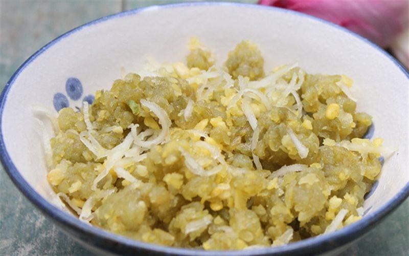 Cách làm Xôi Cốm đậu xanh dẻo bùi, đổi vị cho bữa sáng