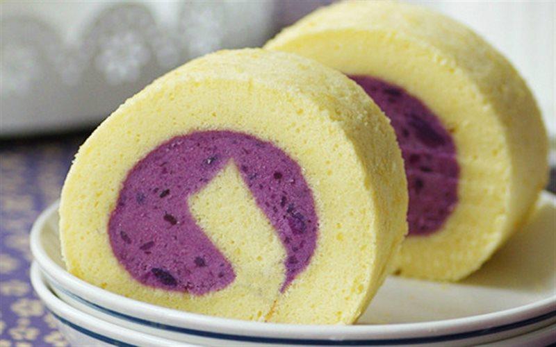 Cách Làm Bánh Bông Lan Cuộn Khoai Cực Đẹp, Ngon