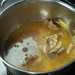 Canh giá đỗ thịt bò giải rượu