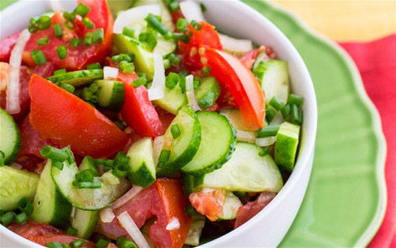 Cách Làm Salad Dưa Leo Cà Chua Thanh Mát, Đơn Giản