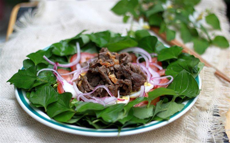Cách Làm Rau Diếp Cá Trộn Thịt Bò Lạ Miệng Hấp Dẫn