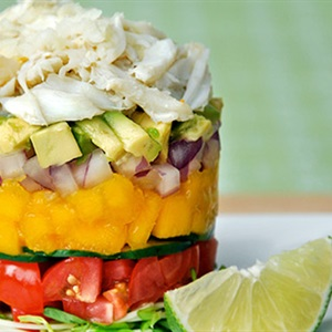 Salad thịt cua