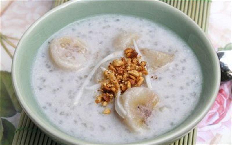 Cách nấu Chè Chuối Nước Cốt Dừa đậu phộng thơm béo