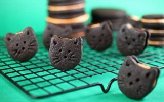 Bánh oreo hình mặt mèo