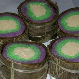 Bánh tét chay 3 màu