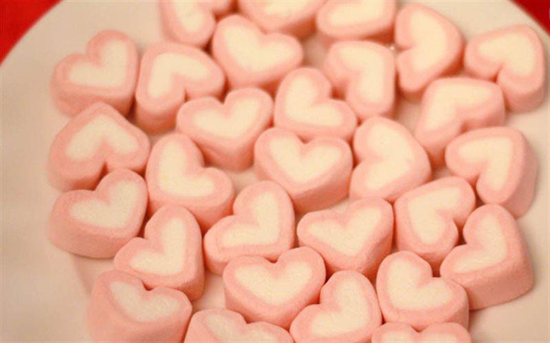 Cách làm kẹo xốp hình trái tim