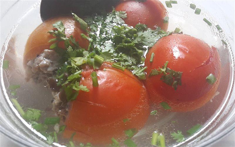 Cách làm canh cà chua nhồi thịt