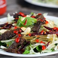 Các món ăn hấp dẫn với khô bò