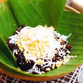Cách nấu Xôi Nếp Cẩm với nước cốt dừa béo ngậy, dẻo ngon