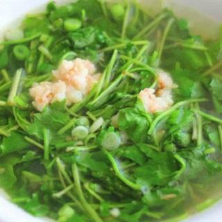 Cách làm Canh rau má tôm tươi thanh mát dễ làm tại nhà