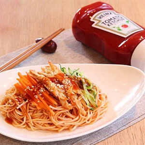 Mì Ý trộn thịt gà