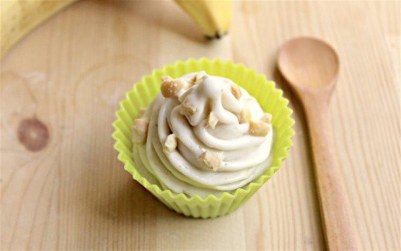 Cách làm kem chuối cupcake