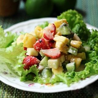 Cách làm salad trộn trái cây