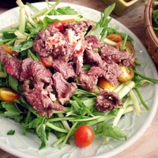 Cách làm gỏi rau cần thịt bò