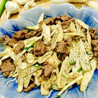 Cách làm Củ Niễng Xào Thịt Bò lạ miệng và giàu dinh dưỡng