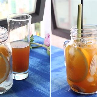Cách làm trà đào cam sả