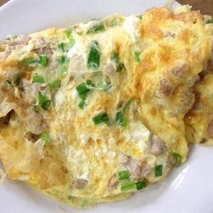 Trứng chiên thịt bằm