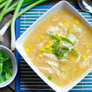 Cách làm súp gà bắp non